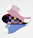 Vans Canoodles Multicolor Checkerboard  3 Pack No Show Socks