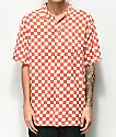 Vans Checker Camp Emberglow camisa de manga corta