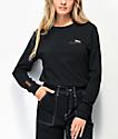 Vans Checkerboard Text Black Long Sleeve T-Shirt