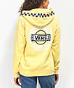 Vans Circle Checkerboard sudadera con capucha amarilla