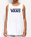 Vans Classic camiseta sin mangas blanca y morada