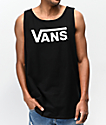 Vans Classic camiseta sin mangas negra y blanca