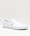 Vans Classic zapatos sin cierre en blanco