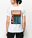 Vans Drop V White & Red T-Shirt