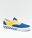 Vans Era BMX zapatos de skate a cuadros en azul, amarillo y blanco