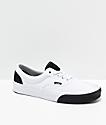 Vans Era Colorblock zapatos de skate blancos y negros