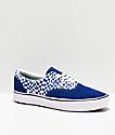 Vans Era ComfyCush Tear zapatos de skate azules y blancos