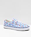Vans Era I Heart Vans zapatos de skate blancos y azules