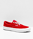Vans Era Pro Red & White Suede Skate Shoes