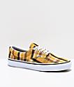 Vans Era zapatos de skate de tartán amarillo