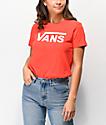 Vans Flying V Poppy camiseta roja