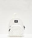 Vans Gettin It mini mochila blanca y transparente de cuadros