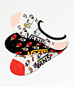 Vans Ice Cream Canoodle 3 Pack No Show Socks