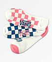 Vans L8r Checkerboard Canoodle paquete de 3 calcetines invisibles