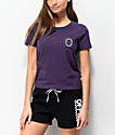 Vans Lizzie Lucky Cat Purple Baby T-Shirt
