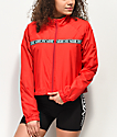Vans MTE Red Crop Windbreaker Jacket