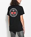 Vans OTW Red Rose Black Boyfriend T-Shirt