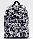 Vans Old Skool III Off The Wall mochila negra y blanca