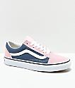 Vans Old Skool Indigo & Chalk Pink Skate Shoes