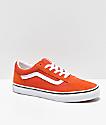 Vans Old Skool Koi zapatos de skate anaranjados y blancos