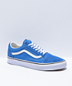 Vans Old Skool Nebula Blue & White Skate Shoes