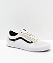 Vans Old Skool Pro Marshmallow zapatos de skate blancos y negros