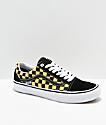 Vans Old Skool Pro zapatos de skate de cuadros negros y dorados