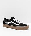 Vans Old Skool Pro zapatos de skate en negro, blanco y goma