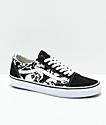 Vans Old Skool Skulls Black & White Skate Shoes