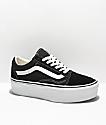 Vans Old Skool zapatos de skate tipo grueso en blanco y negro