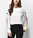 Vans Rain Checks White Crop Long Sleeve T-Shirt