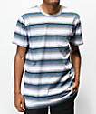 Vans Redmond Blue, White & Grey Striped Knit Pocket T-Shirt