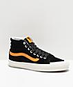 Vans Sk8-Hi 138 Zinnia zapatos de skate negros y amarillos