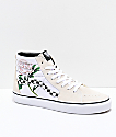 Vans Sk8-Hi Checker Floral Turtle Dove zapatos de skate