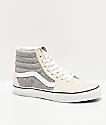 Vans Sk8-Hi Herringbone Grey & White Skate Shoes