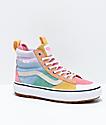 Vans Sk8-Hi MTE 2.0 DX Pastel Blue, Pink & Purple Shoes
