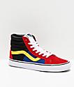 Vans Sk8-Hi OTW Rally Reissue Chili zapatos de skate rojos, negros y blancos