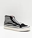 Vans Sk8-Hi Pro 138 SF zapatos de skate negro y blancos de rayas
