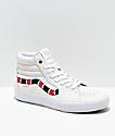 Vans Sk8-Hi Pro Coral Snake zapatos de skate de cuero blanco