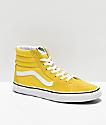 Vans Sk8-Hi zapatos de skate de color amarillo vibrante