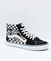 Vans Sk8-Hi zapatos de skate de cuadros con parche