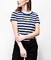 Vans Skimmer camiseta corta azul y blanca de rayas