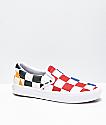 Vans Slip-On ComfyCush Half Check Multi & White Skate Shoes
