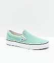 Vans Slip-On Neptune zapatos de skate verdes y blancos