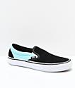 Vans Slip-On Pro Asymmetrical Black, Blue, Red & White Skate Shoes