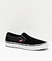 Vans Slip-On Pro zapatos de skate negros y blancos