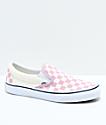 Vans Slip-On Zephyr Pink & White Checkered Skate Shoes