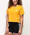 Vans Split Sided Yellow Crop T-Shirt