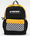 Vans Sporty Realm Plus Black & Yellow Checkerboard Backpack