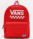 Vans Sporty Realm mochila roja de cuadros